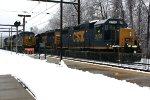 CSX 2708, 6156 on C770, Q140 approaching with 803